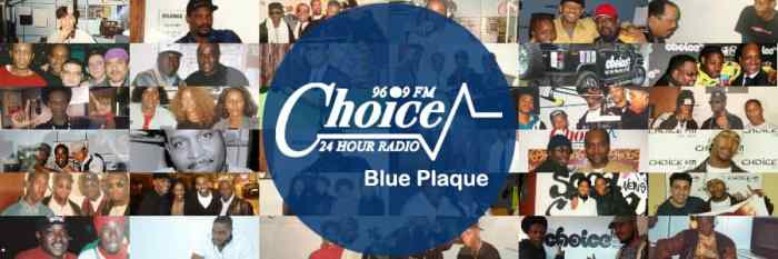 Choice FM Blue Plaque